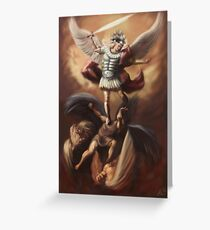 The Fall of the Rebel Angels Greeting Card