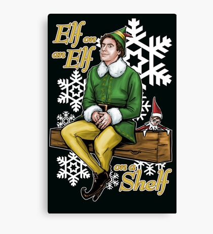 Elf on an Elf on a Shelf Canvas Print