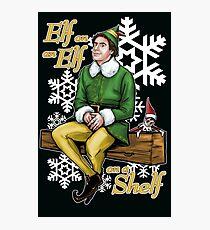 Elf on an Elf on a Shelf Photographic Print