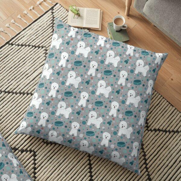 Bichon Frise dog pattern Floor Pillow