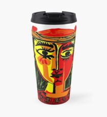 LADY in RED : Vintage Abstract Fantasy Painting Print Travel Mug