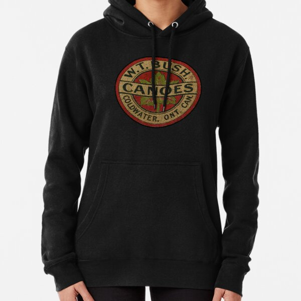 W T, Bush, Canoes ,Canada, Pullover Hoodie
