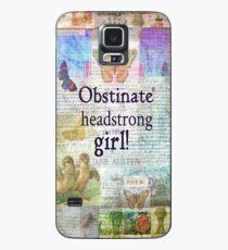 Hartnäckiges, eigensinniges Mädchen! Jane Austen Zitat Hülle & Klebefolie für Samsung Galaxy