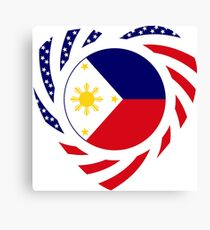 Filipino American Multinational Patriot Flag Series 2.0 Canvas Print