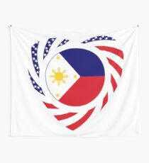 Filipino American Multinational Patriot Flag Series 2.0 Wall Tapestry