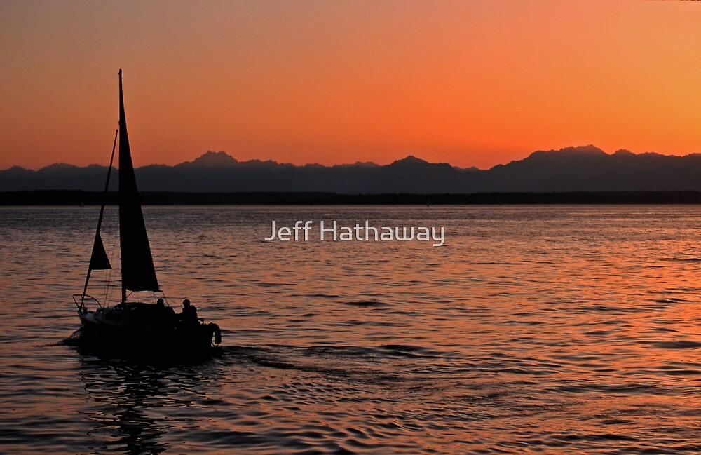 Sunset on Puget Sound near Seattle, Washington by Jeff Hathaway