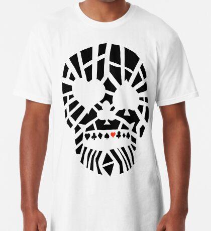 Fractured Poker Skull Long T-Shirt