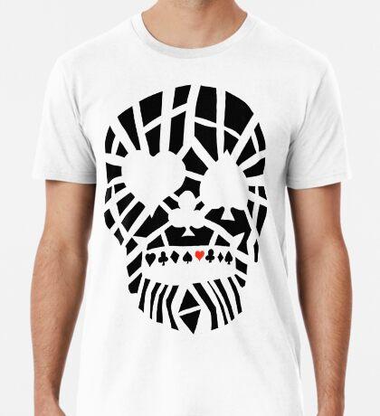 Fractured Poker Skull Premium T-Shirt