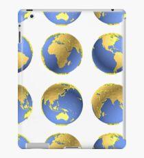Earth globes vector pattern iPad Case/Skin