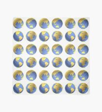 Earth globes vector pattern Scarf