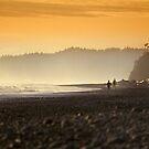 Walking along the ocean shore by Jeff Hathaway