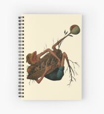 """Demon from """"The Fall of the Rebel Angels"""" by Pieter Bruegel the Elder (3) Spiral Notebook"""