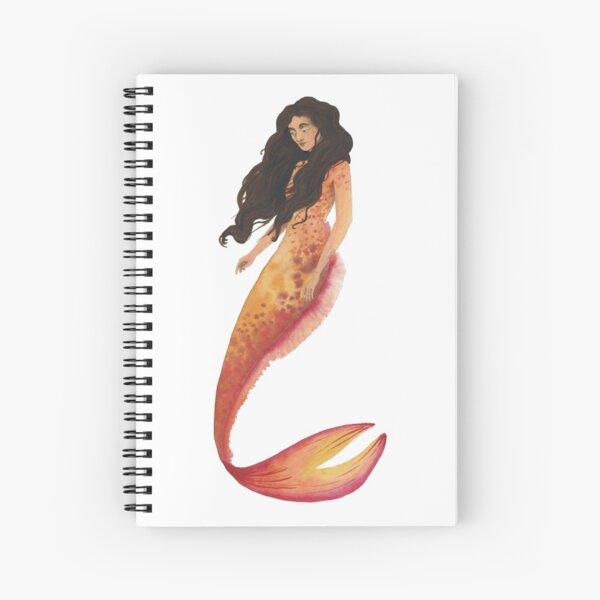 Orange Mermaid Spiral Notebook