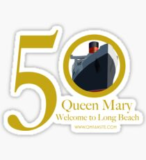 Queen Mary 50th Anniversary Sticker