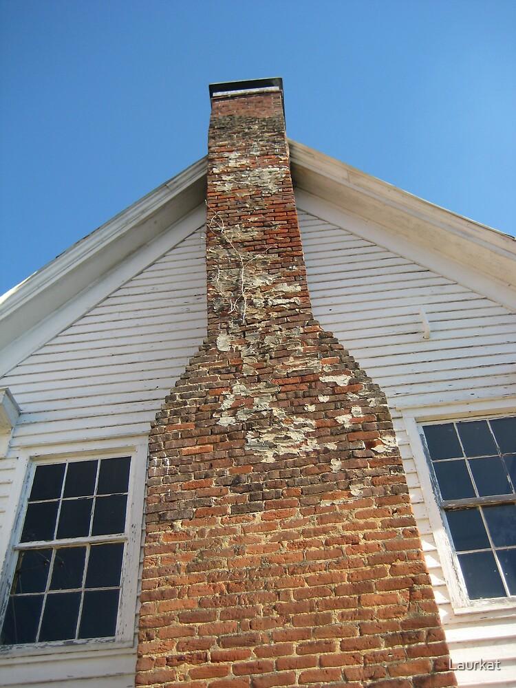Ellijay chimney in autumn by Laurkat