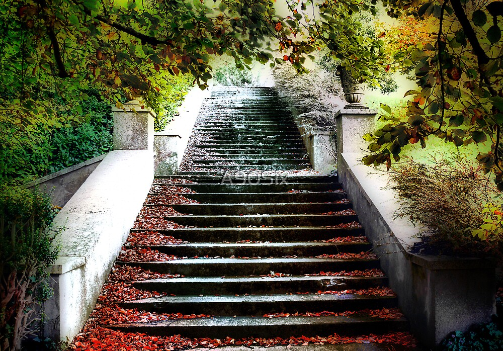 Autumn Stairway by A90Six