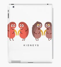 Healthy vs Unhealthy Kidneys Infographic Illustration iPad Case/Skin