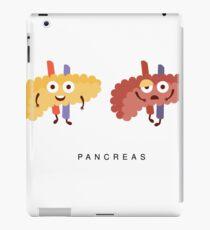 Healthy vs Unhealthy Pancreas Infographic Illustration iPad Case/Skin
