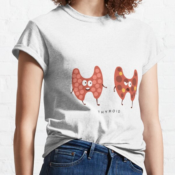 Healthy vs Unhealthy Thyroid Infographic Illustration Classic T-Shirt