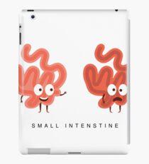 Healthy vs Unhealthy Small Intestine Infographic Illustration iPad Case/Skin