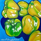 Yellow Peppers by Lori Elaine Campbell