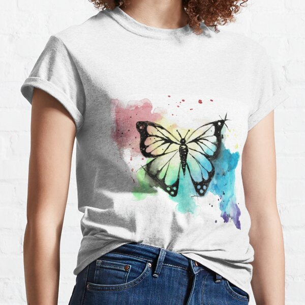 Butterfly in Watercolor and India Ink Classic T-Shirt