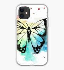 Butterfly in Watercolor and India Ink iPhone Case