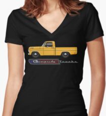 Yellow Sixty Eight Women's Fitted V-Neck T-Shirt