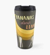 Bananas About Llamas! Travel Mug
