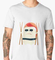 Funny Maki Sushi Character With Eating Sticks Men's Premium T-Shirt