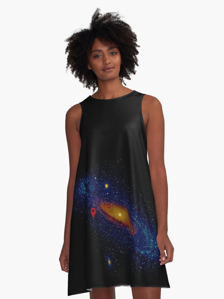 Meanwhile, somewhere in the Universe... A-Line Dress Front