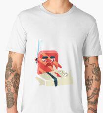 Funny Maki Sushi Characters Sword Fight Men's Premium T-Shirt
