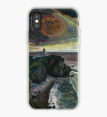 Stoer Head Lighthouse - Embroidery - Textile Art iPhone Case