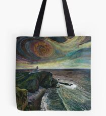 Stoer Head Lighthouse - Embroidery - Textile Art Tote Bag