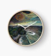 Stoer Head Lighthouse - Embroidery - Textile Art Clock