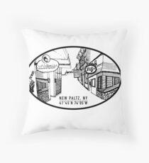 Main Street New Paltz - Oval Throw Pillow