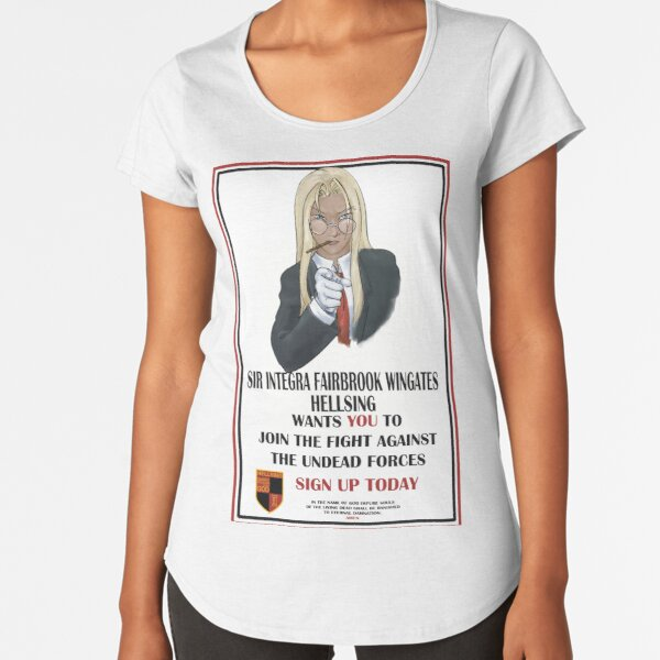 Hellsing Wants You Premium Scoop T-Shirt
