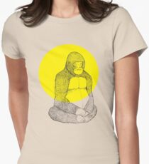 Gorilla Meditation Women's Fitted T-Shirt