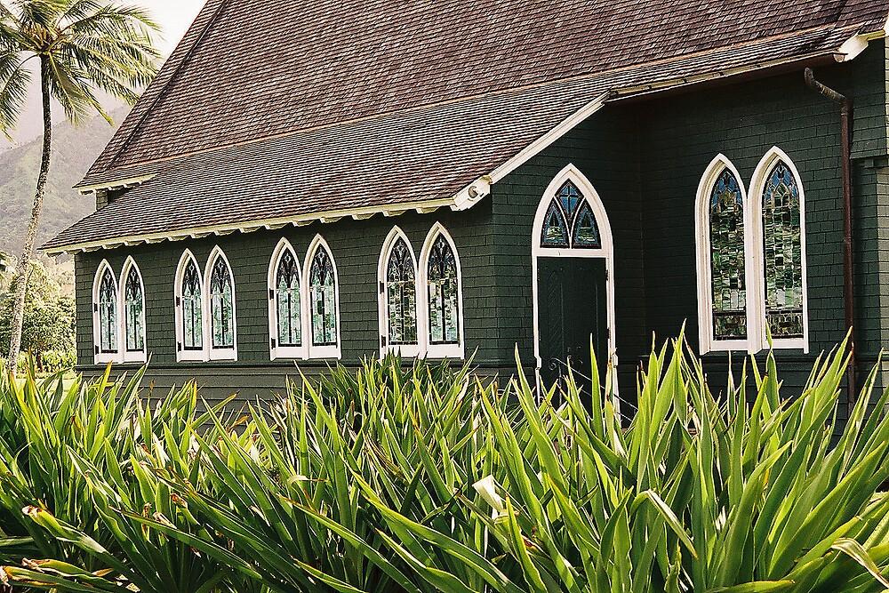 Hanalei Church Kauai by Dennis Begnoche Jr.