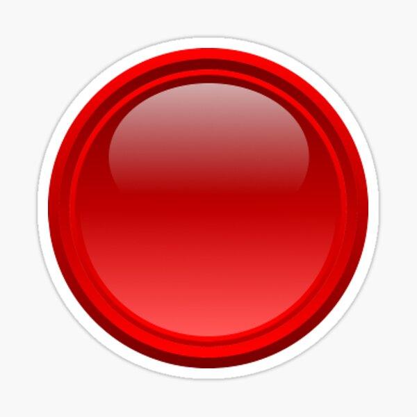 Small red button Sticker