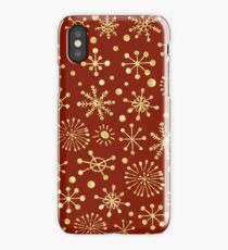 Retro Stars Pattern on Red iPhone Case