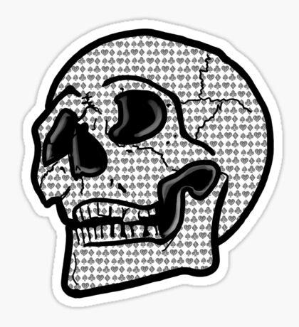 Poker Skull Sticker