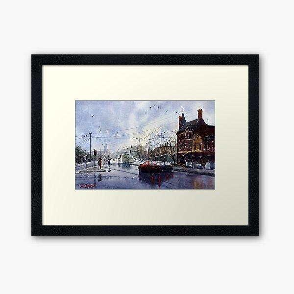 Clifton Hill, Melbourne Framed Art Print