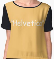 Helvetica Chiffon Top