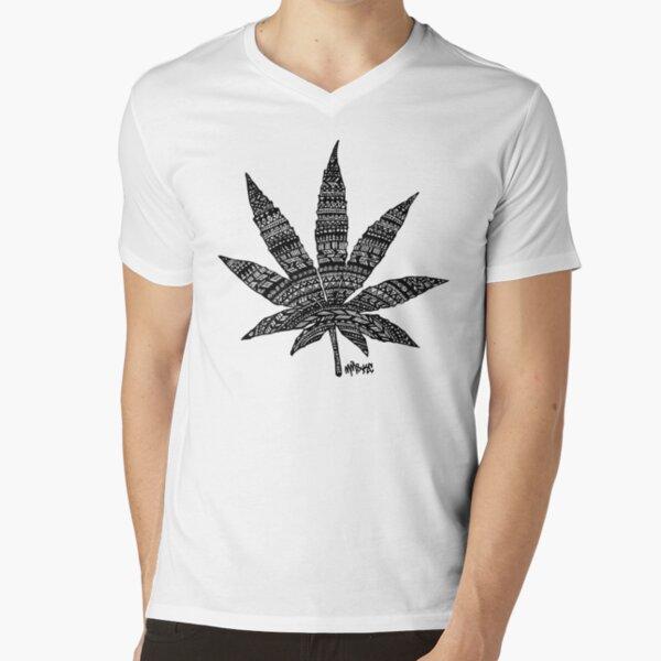 Chronic Leaf V-Neck T-Shirt