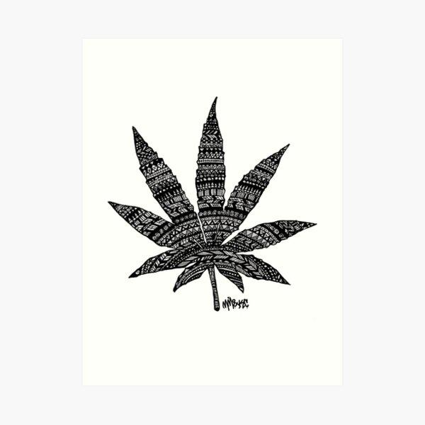 Chronic Leaf Art Print