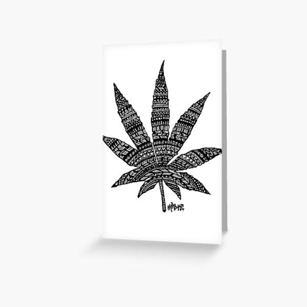 Chronic Leaf Greeting Card