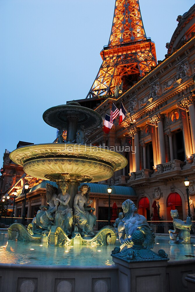 Paris Hotel and Fountain in Las Vegas, NV by Jeff Hathaway