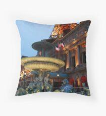 Paris Hotel and Fountain in Las Vegas, NV Throw Pillow
