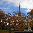 The London Temple in Late October by Kathryn Jones